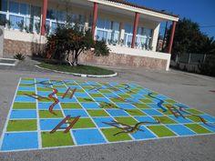 Αποτέλεσμα εικόνας για ζωγραφιες παιχνιδια σε αυλη σχολειου