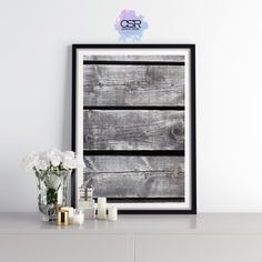 Grey Wood Planks Print Grey Wood, Wood Planks, Prints, Design, Home Decor, Grey Hardwood, Decoration Home, Room Decor, Wooden Boards