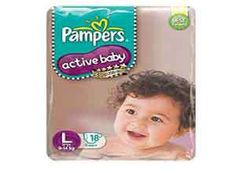 Pampers Active Baby Large Size Diapers At Rs.256