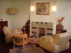 1930s living room: London art deco interior