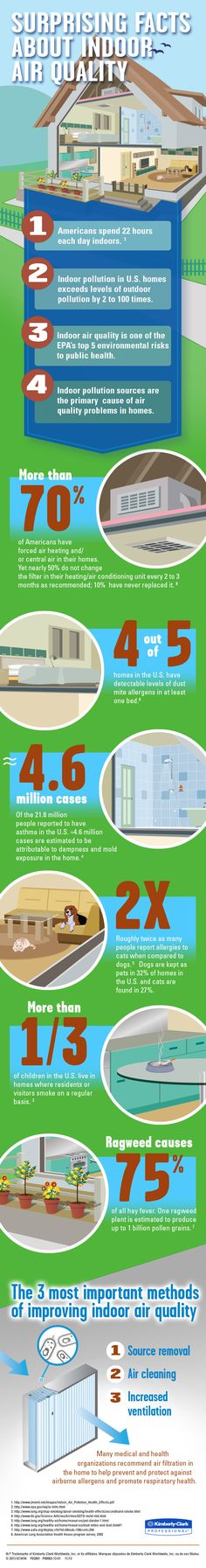 Take a look at these surprising facts about indoor air quality! | Pass One Hour Heating & Air Conditioning | (618) 997-6471 | www.passonehour.com