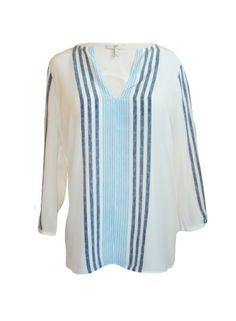 Navy and white stripe nautical top. Perfect which white jeans