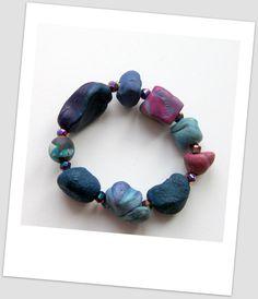 ARTISAN  JEWELRY  Bracelet  handsculpted by StudioSabine on Etsy, $35.00