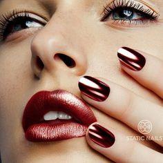 Rose Gold de StaticNails , el color del momento. #Uñas #Nails #RoseGold