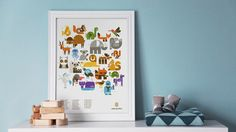 I love this alphabet wall art for nursery