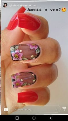 30 Creative Image of Nails Design Ideas Amaze Everyone, You have to prepare your nails and use the base coat. You must make it sure that the nails do match with the remainder of your look. Short nails are g. Stylish Nails, Trendy Nails, Flower Nail Art, Hot Nails, Gorgeous Nails, Nails Inspiration, Beauty Nails, Nail Art Designs, Acrylic Nails