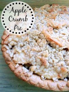 Num's the Word: If you love apple pie, you'll love this Apple Crumb Pie!  We've been making it for 11 years now and it's still our favorite!