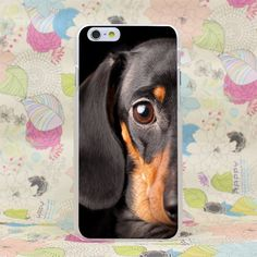 Dachshund Cute Dog Puppy Hard Transparent Case Cover for iPhone 4 4s 5 5s SE 5C 6 6s Plus 7 7 Plus
