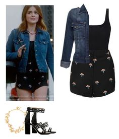 Aria Montgomery - pll / pretty little liars by shadyannon on Polyvore featuring polyvore fashion style Topshop Current/Elliott Orlebar Brown BaubleBar clothing