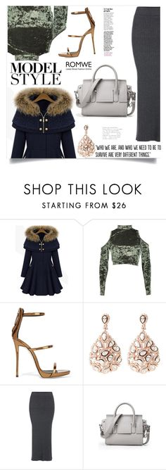 """""""Romwe"""" by violet-peach ❤ liked on Polyvore featuring Boohoo, Giuseppe Zanotti, Latelita and Populaire"""