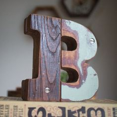 "Wooden Letter ""B"" 