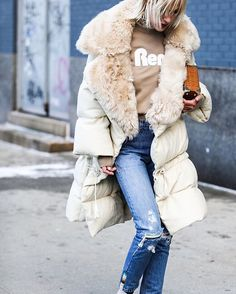 Trying to beat the cold. On my way to the @lacoste show.  @voguemagazine #streetstyle #NYFW #lindatol