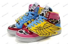 finest selection d77ac 4bea6 Adidas Originals Jeremy Scott x 2NE1 JS Wings Pink Leopard Women s Running  Shoes adidas shoes india