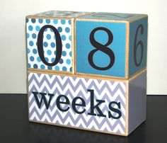 Wooden Baby Age Blocks Photo Prop Weeks by CoconutHutBoutique, $34.75