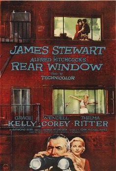 Films with fashion influence - 1954 Rear Window poster Watched w/ my 22 yr old who loves slasher films. Ugh! It was a knees to the chest nail biting evening.  Classic.