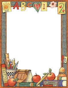 free school themed border paper | back to school bulletin board ...
