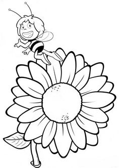 51 Maya the Bee printable coloring pages for kids. Find on coloring-book thousands of coloring pages. Bee Coloring Pages, Online Coloring Pages, Printable Coloring Pages, Coloring Pages For Kids, Coloring Sheets, Coloring Books, Sunflower Drawing, Disney Printables, Art Projects