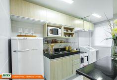 Apartamento decorado 2 quartos do Jardim América no bairro Ernani Sátiro - João Pessoa - PB - MRV Engenharia - Cozinha.
