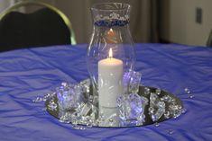 Bella Beginnings: Royal Blue and Silver church wedding and reception