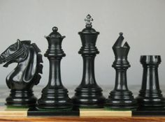 Luxury Staunton Chess Set Pieces Ebony Wood 4Q. http://www.chessbazaar.com/chess-pieces/wooden-chess-pieces/luxury-staunton-chess-set-pieces-ebony-wood-4q.html