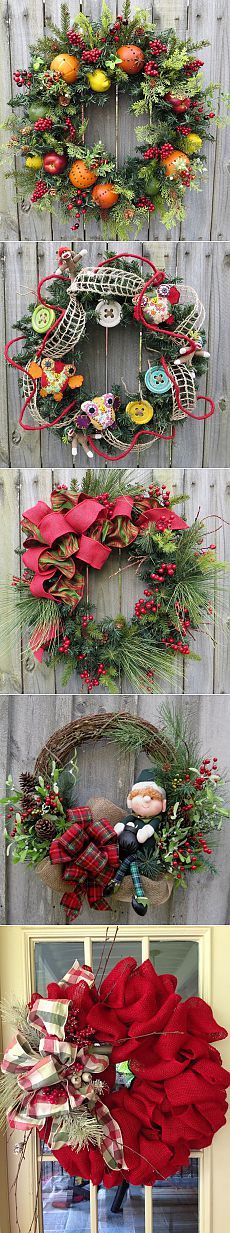 Новогодние венки. Christmas Decoration Items, Christmas Items, Christmas Wreaths, Holiday Decor, Crea Design, Handmade Design, Happy Holidays, Interior Architecture, Floral Wreath