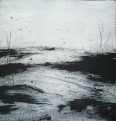 Ross Loveday: Limited Editions Prints  Salt in the Wind:  Limited edition Dry Point – Carborundum Print - edition size 15 - 55 x 55 centimetres -