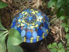 Mushroom blues by Poppins Mosaics and Crafts, via Flickr