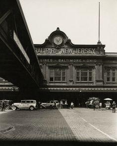 Berenice Abbott - Ferry: West Street, Foot of Liberty Street, Manhattan, 1936