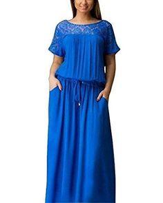 Oferta: 16.09€. Comprar Ofertas de Mujer Vestido Largos Elegante de Encaje Coctel Maxi Vestidos Tallas Grandes Azul Zafiro 5XL barato. ¡Mira las ofertas!