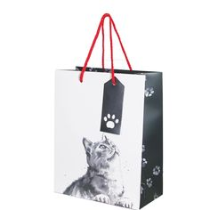 Cats medium gift bagMedium Gift bag Size: 200 x 250mm x 100mm when open Double red rope handles Manufacture by Deva Designs LtdCards and Gift Wrap