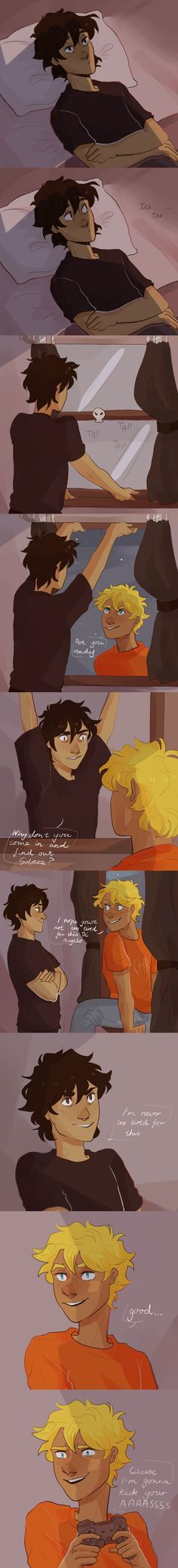 Lol, raise your hand if you thought it was going to be gay! (I don't ship Solangelo, if it is in one of the books, you better be prepared to give me chapter and page.)