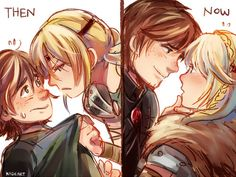 Then and Now ... How to train your dragon, hiccup, viking, astrid