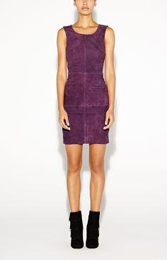 nicole miller Lauren Suede Dress - Cocktail - Dresses
