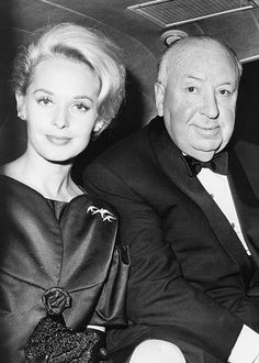 Alfred Hitchcock and Tippi Hedren (The Birds 1963)