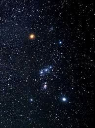 The Image above depicts Orion's belt, the constellation in which the Orion nebula is located approximately 1500 light years away.
