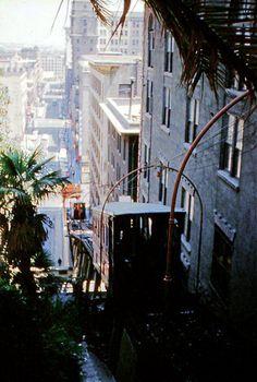 Angels Flight around 1960. (Bizarre Los Angeles)