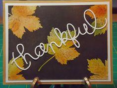 Emboss Resist Thanksgiving Cards