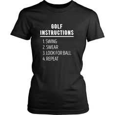If you are a proud golf player & enthusiast then Golf Instructions Golfer tee or hoodie is for you. Custom Golf inspired T-Shirts & Apparel by TeeLime. If you want different color, style or have an id
