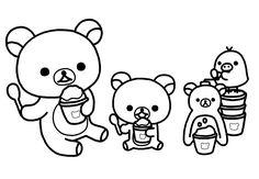 rilakkuma bear coloring pages - photo#17