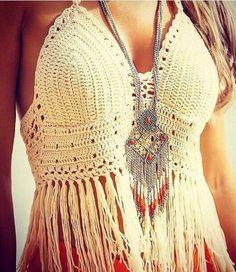 Boho Inspired Crochet Lace Bralette Crop Top