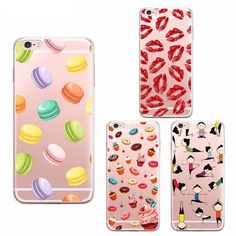 Fancy Pattern Case For iPhone Transparent Silicone Cover