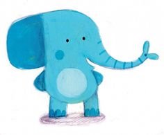 Judi Abbot Illustration - judi, abbot,  judi abbot, acrylic, paint, painted, traditional, commercial, picture book, picturebook, sweet, cute, animals, elephant