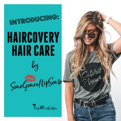 Introducing HairCovery Hair Care Line by SeneGence. Includes shampoo, conditioner and a hair serum. Safe for color treated hair. Will enhance volume, thickness, strengthen and make your hair shine. #senegence#lipsense #haircare #shampoo#conditioner #hairserum