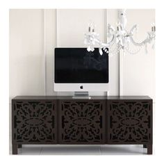 lace cut console - contemporary - media storage - Brocade Home found on Polyvore