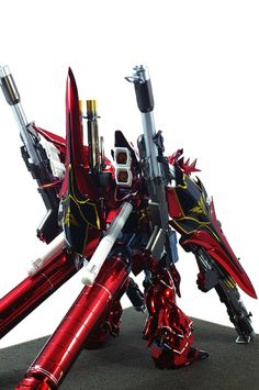 "Custom Build: 1/100 Full Armor Sinanju ""Chrome Finish"" - Gundam Kits Collection News and Reviews"