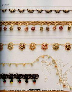 Beads Crochet Edging http://www.liveinternet.ru/users/3824100/post196406055/