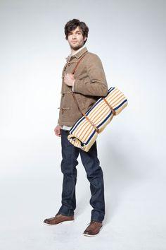 Ben - wax canvas toggle jacket, awesome indigofera blanket