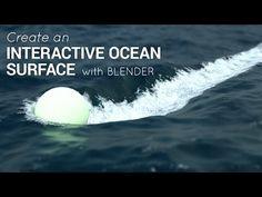 Créer une surface d'océan avec interactions, dans Blender 2.75 - Actualité sur 3DVF.com.