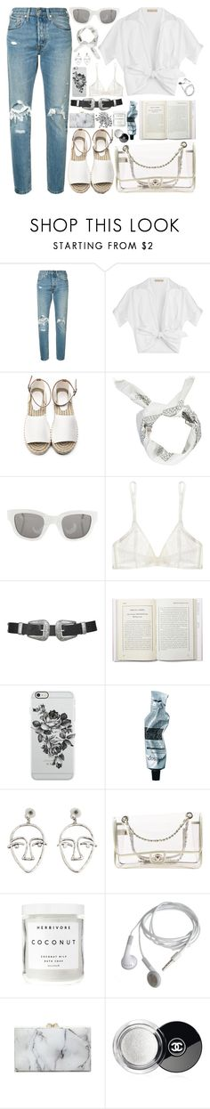 """""""312. Little Treasures"""" by ass-sass-in ❤ liked on Polyvore featuring Levi's, Michael Kors, Boohoo, Acne Studios, Yasmine eslami, Topshop, Uncommon, Aesop, MANGO and Chanel"""