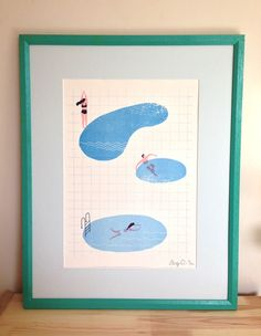 A3 risograph print in 2 colours (red and blue). Signed in an edition of 30. (comes unframed in a tube) MAGGIE LI
